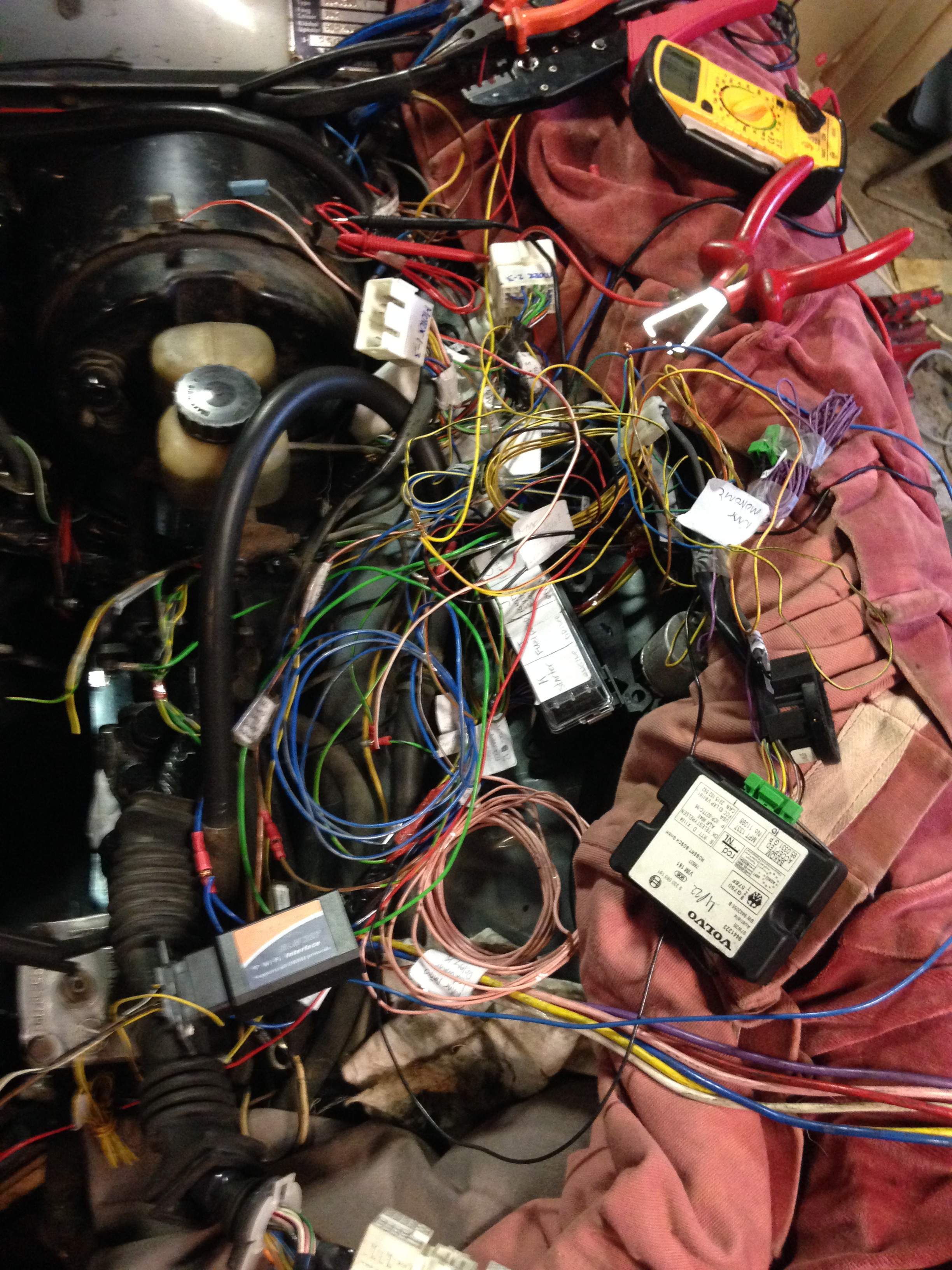 Volvo 164 Engine Swap B30 To B6304 Wiring Diagram Pic Here Is First Test Connections Will Be Routed Nicely Off Course But I Wanted Sure The Basics Work